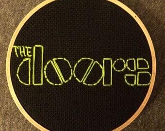 Doors Jim Morrison Handmade Needlepoint