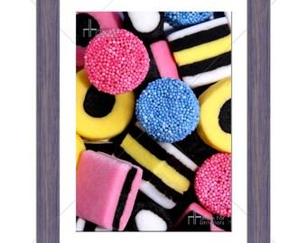 Sweet Candy Liquorice Allsorts Kids Photographic Print - Various Sizes - Gift Idea