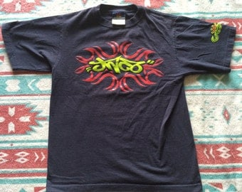 Vintage JNCO Jeans Brand T-Shirt with Raised Print