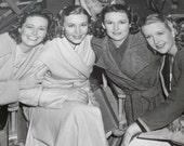 The Lane Quartet, Lane Sisters, Original Hollywood Promotional Photograph, 8 x 10, Black White, Collectible