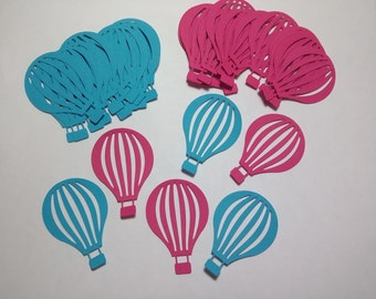 60 Large  Hot Air Balloon Die Cut Scrapbooking Embellishments. (Choose your color)