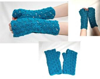 Handmade lace long mittens Fingerless gloves Arm Warmers Winter Wedding gloves Gift  Arm warmers Winter Womens gloves