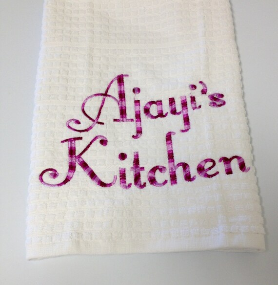 Personalized Kitchen Towel Embroidered Kitchen Towels