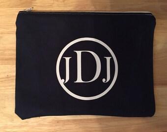 Monogram Cosmetic Bag - Makeup Bag - Zipper Pouch