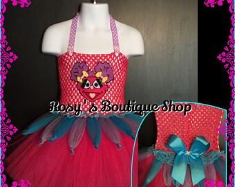 Size 12-24M Ready to ship, Abby Cadabby Inspired Tutu dress, Sesame street birthday dress, Halloween tutu costume, Abby cadabby tutu.