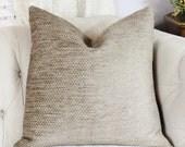 Brown Soft Pillow Cover -  Brown Dot Chenille Pillow - Throw Pillow - Modern Brown Pillow