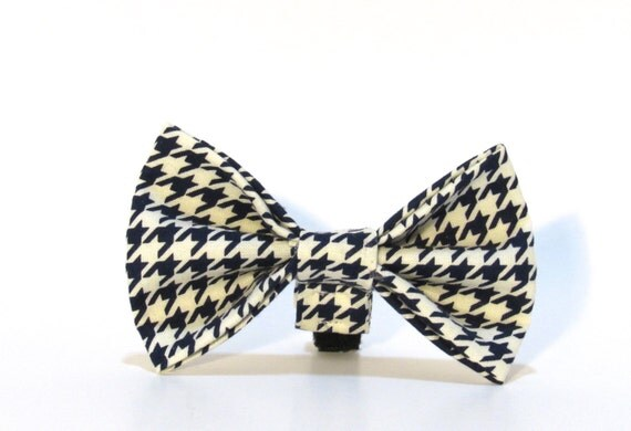 Houndstooth Bow Tie, Dog Bow Tie