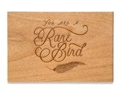 You Are A Rare Bird -- Love Card, Anniversary Card