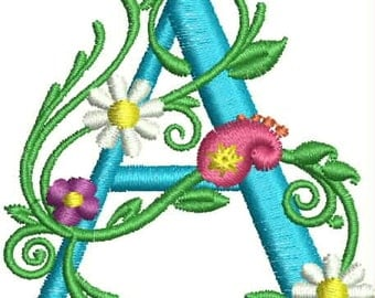 Floral Monogram Dish Towel