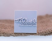 Custom Stamp 38 X 38mm For PMC, Art Clay, Metal Clays, Polymer Clay, Fimo.
