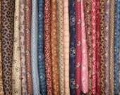Half Yard Bundle of Judie's Album- Reproduction Fabric From the Civil War Period 1850-1865-27 prints