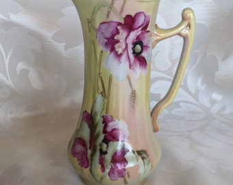 Nippon Porcelain Pitcher or Ewer ~ Beautiful