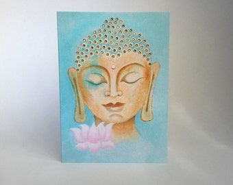 Buddha & Lotus 16 - Limited Edition - Greeting Card