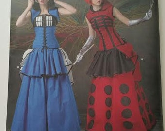 Simplicity Sewing Pattern Costume Inspired by Doctor Who Tardis Dalek Dresses