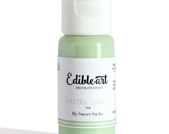 Pastel Green 15ml- Edible Art Paint by Sweet Sticks for cake, cookie, & confectionery decorating