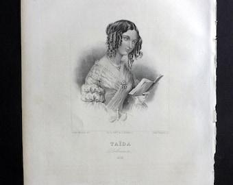 Chodzko Poland 1843 Antique Portrait Print. Taida