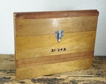 Vintage Portable Wooden Document Holder