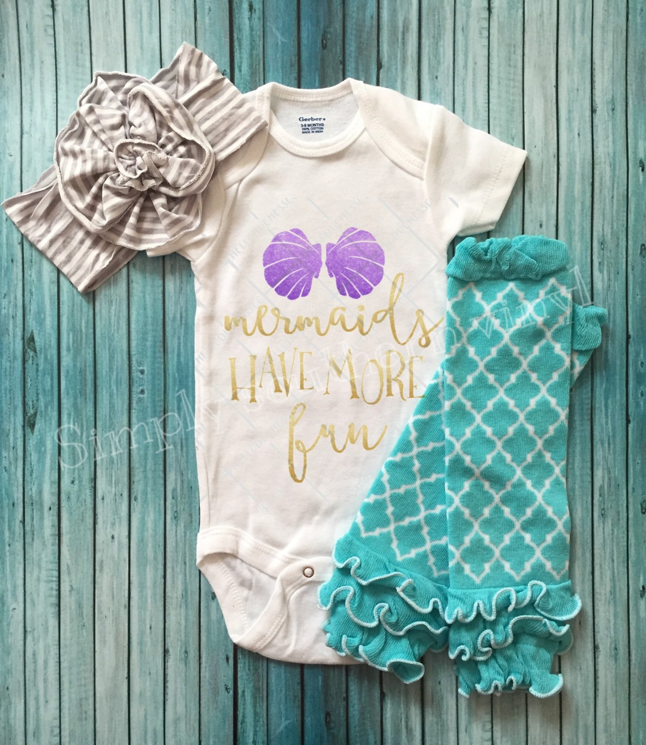 Girls Bodysuit mermaids shirt mermaids adorable
