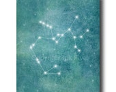 Sagittarius Constellation - Zodiac Sign printable art. Wall decor. Tile blue digital image. Instant digital download. Zodiac Signs
