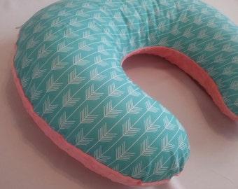 Nursing pillow slipcover, Minky  on a backside