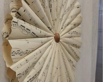 Sheet Music Wreath Large- Sheet Music Wall Art- Vintage Sheet Music - Music Decor - Piano Recital Gift - Paper Wreath - Door Wreath