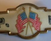 Civil War Pin Antique Military Pin GAR CIVIL WAR Celluloid Pin w Double Flags