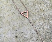 Triangle Lariat Necklace / Y Necklace
