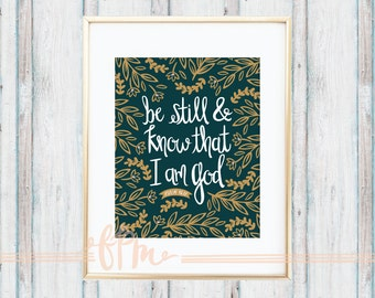Psalm 46:10 Print