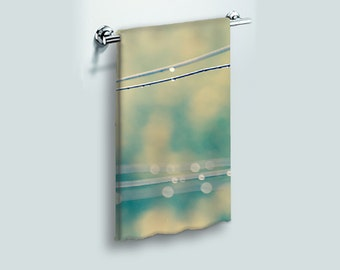 Small Face Cloth Face Towel Raindrops on Clothesline