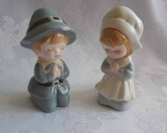 Little Pilgrim Children Salt and Pepper Shakers