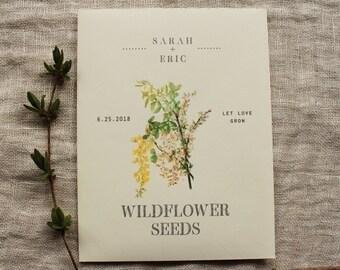 Seed Envelope Favor Wildflower Seed Packet Wedding Shower Party