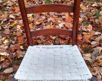 Hand woven repurposed chair