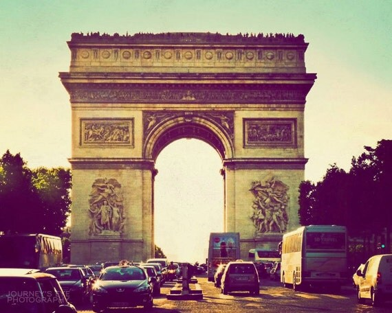 Paris wall art travel photography arc de triomphe france for Arc de triomphe wall mural