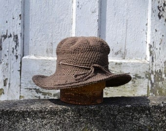 Wide brim Fall hat | Ranger Hat | harvest Hat | Free size | Packs Flat | Made in USA Ecofriendly | Earth brown | back to school fashion