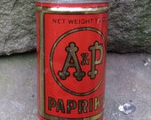 A and P round tin of paprika spice