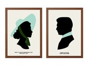 SEALHOUTTE STUDIO | Silhouettes of TV and Movie Poster : Modern Illustration Retro Art Wall Decor Print