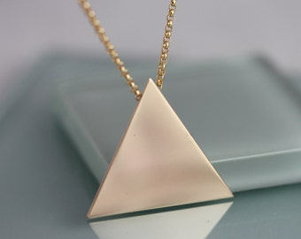 Triangle Necklace Gold Filled or Sterling Silver Geometric Necklace Stevie Nicks Style