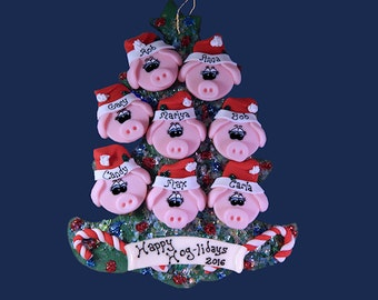 Pig (8) ornament Family tree