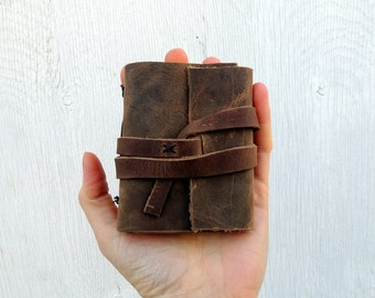 Small notebook mini journal leather pocket notebook to do list notepad, best stocking stuffers for adults gifts for best friends xmas gift