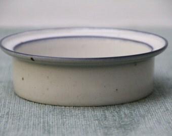 Dansk Blue Mist Rimmed Cereal Soup Bowl Denmark Niels Refsgaard Design Blue and White NR