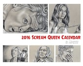 2016 Scream Queen Calendar, Digital Download