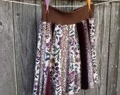 Flared Skirt - Cotton Skirt - Short Summer Skirt - Summer Skirt - Handmade Skirt - Upcycled Skirt - Vegan Skirt - Boho Summer Skirt