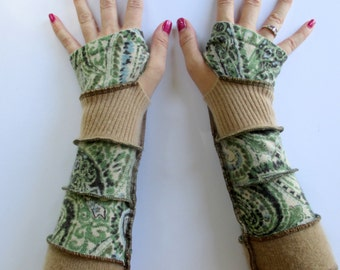 Cashmere Arm Warmers - Texting Gloves - Cashmere Arm Gloves - Recycled Cashmere Sweaters - Cashmere Arm Gloves - Upcycled Clothing - Soft