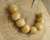 Set of 8 ceramic round beads - eco-friendly ceramic  round beads