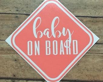 Baby on Board Car Decal - Baby Shower Gift - New Mom Gift - Gifts Under 10 - Gifts Under 20 - Unique Mom Gift
