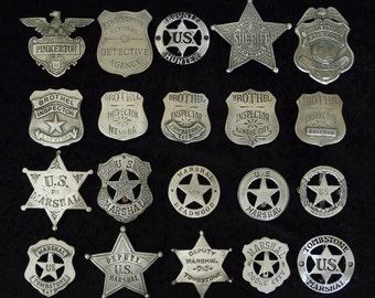 20 BADGES Police, Marshals, Deputy, Sheriff, )