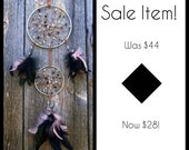 SALE Item - Was 44usd now 28usd - English Rose Hand-Woven Silver Double Dream Catcher by The Emerald Lotus