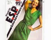 Pullover Dress, T Shirt Dress, Shirt Dress Pattern, Three Sizes, Simplicity 9411