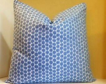 Kravet Periwinkle Dotkat Pillow Cover  - Select your Size during checkout- Fabric both sides - All sizes available - Decorative Pillow Cover