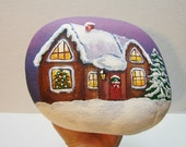 Christmas House in snow custom request, staceyrich1